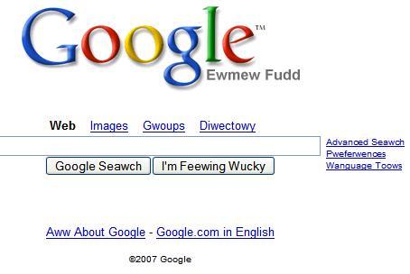 Elmer fudd language google