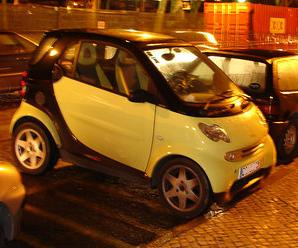 The Green and Black Smart Car (My Favorite)