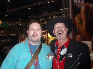 Yours truly and Kinky Friedman