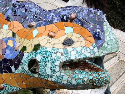 Antoni Gaudi\'s Park Guell Lizard Fountain